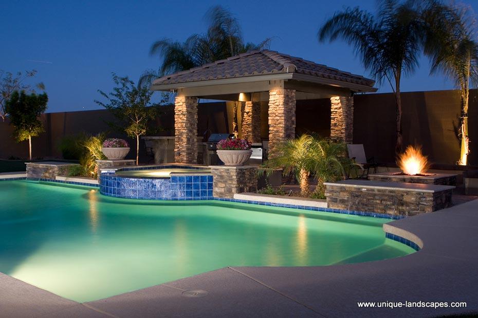 Unique landscapes architectural pools for Pool design phoenix