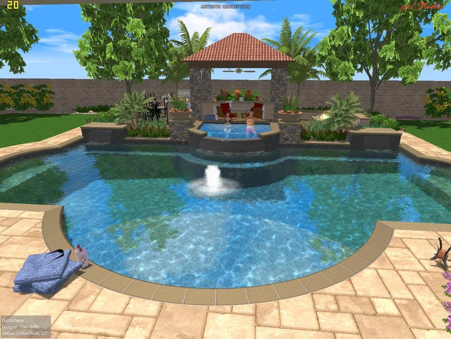 Designs of inground pools joy studio design gallery for Pool design 3d