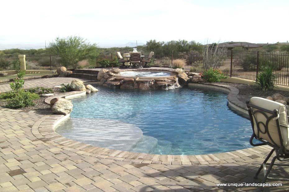 Phoenix Freeform Lagoon Swimming Pool Spa Design Photo Gallery