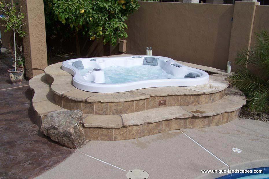 Outdoor Hot Tub Patio Designs American Hwy