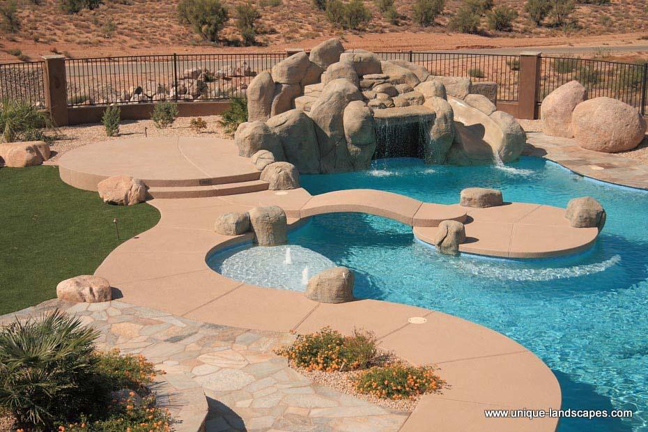 Acrylic patios photo gallery for Pool design phoenix