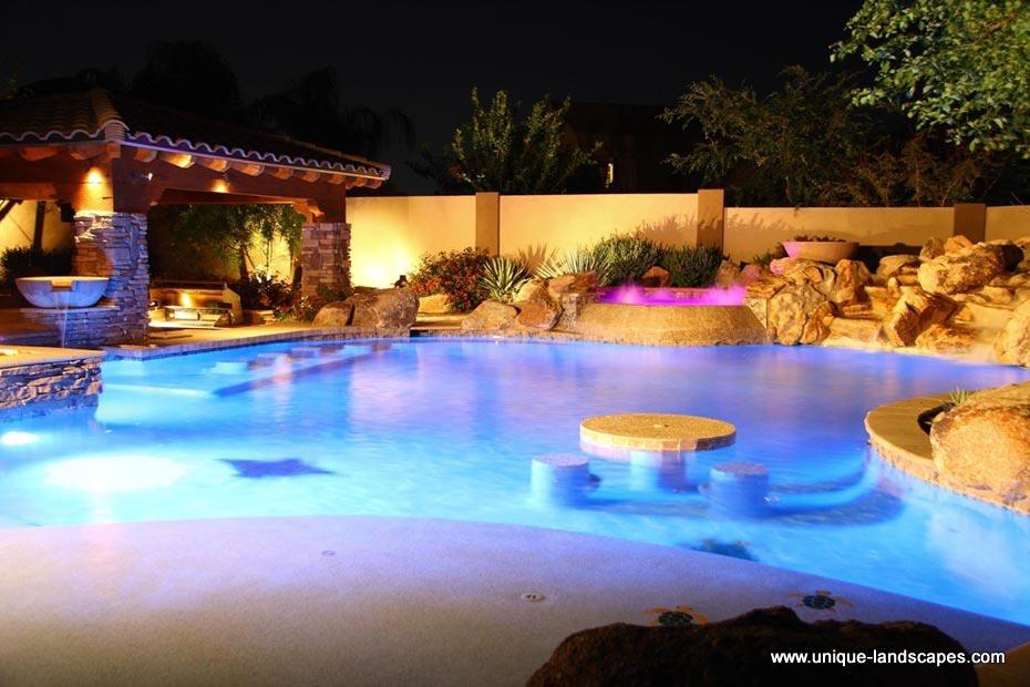 swim up pool in backyard