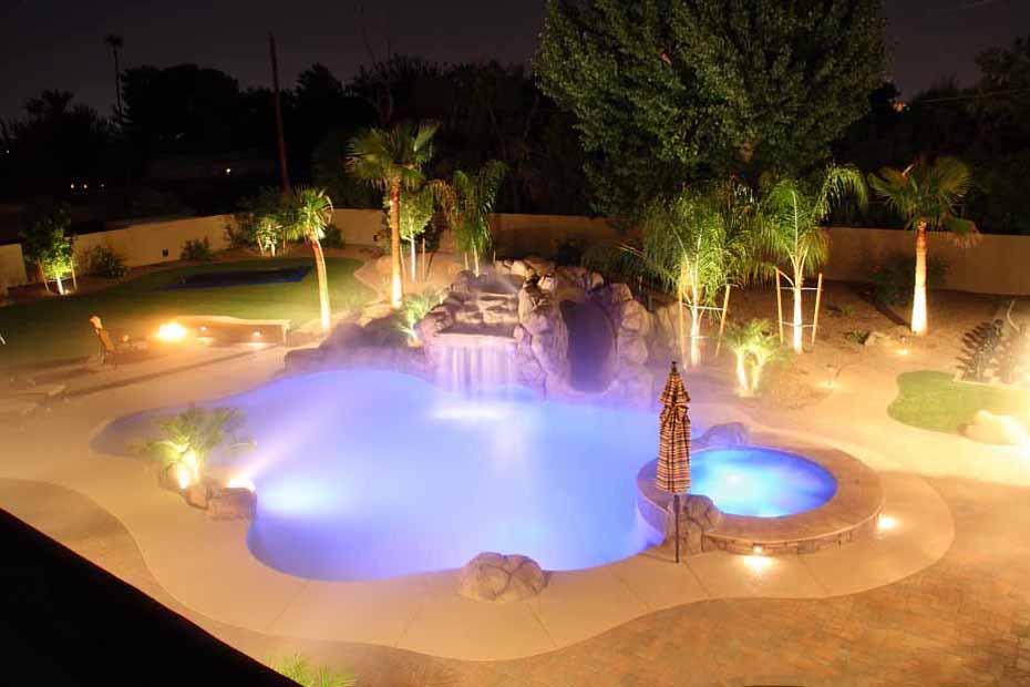 Phoenix swimming pool waterfalls features arizona for Pool design phoenix