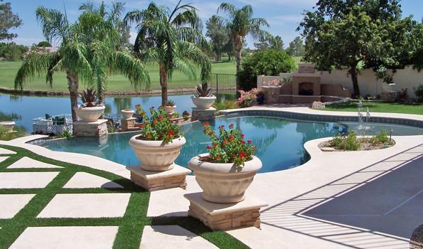 Phoenix landscaping phoenix landscaping design pool for Pool design phoenix