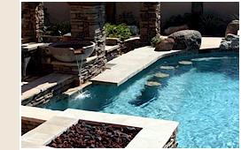swim up bars swimming pool phoenix landscaping