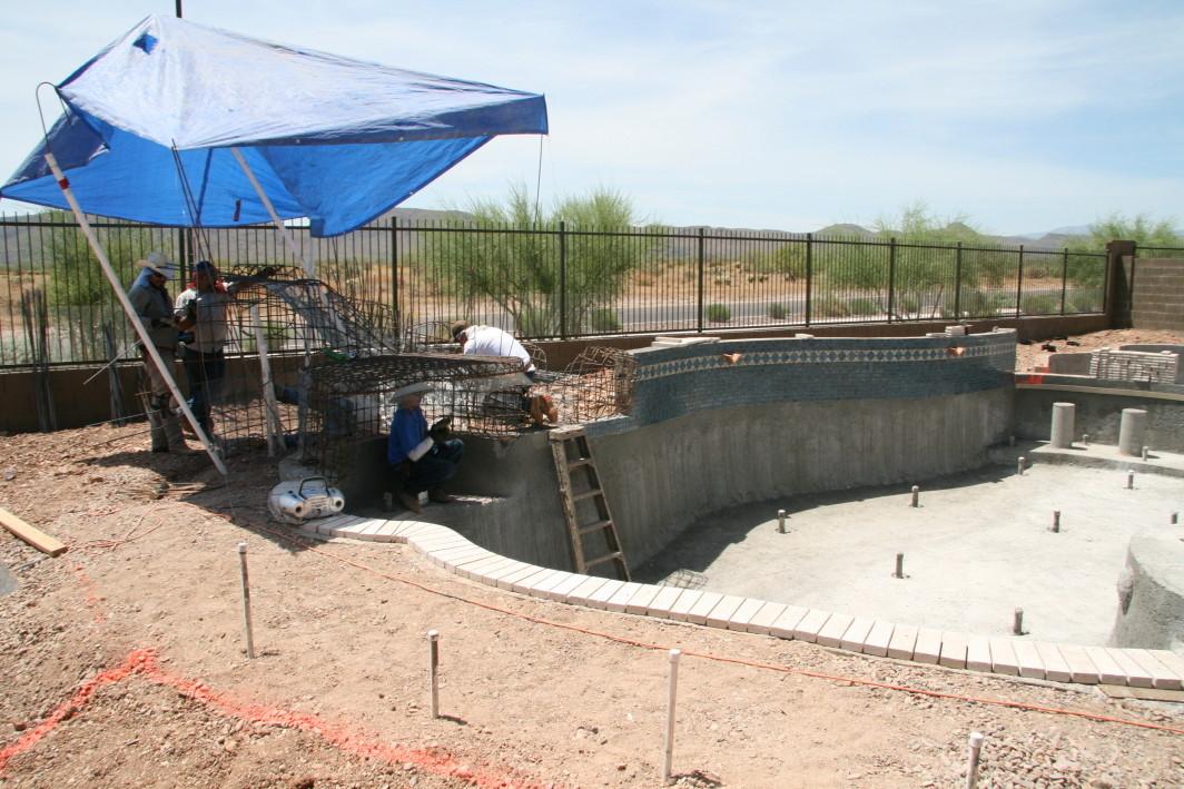 Pool Water Features Custom Waterfalls Phoenix Landscaping Design Pool Builders Remodeling