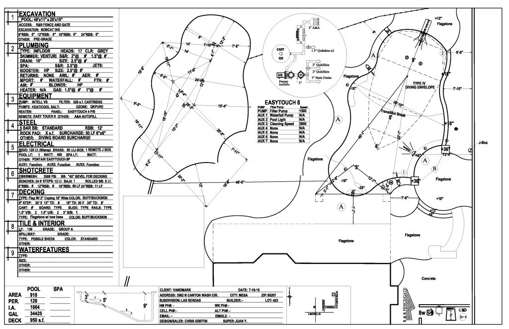 Pool Layout Plan