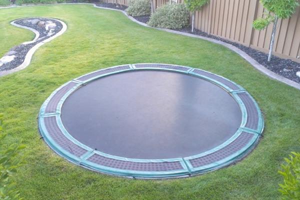 sunken inground trampolines phoenix landscaping design pool builders remodeling. Black Bedroom Furniture Sets. Home Design Ideas