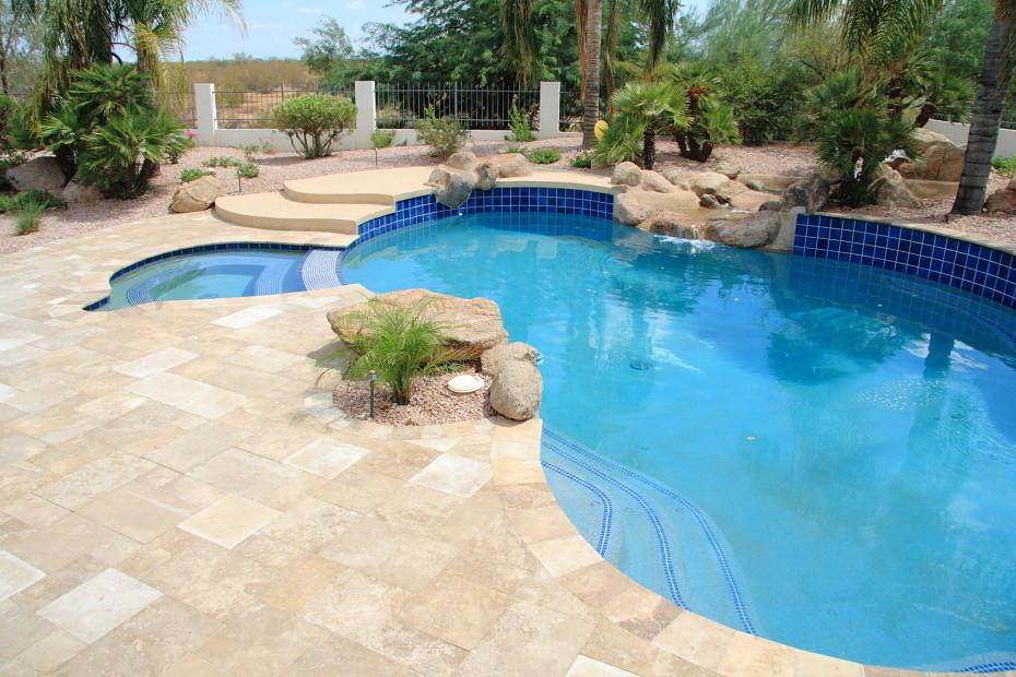 New pool construction phoenix landscaping design pool for Pool design phoenix