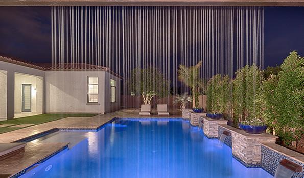 Unique Water Feature Designs Phoenix Landscaping Design Pool